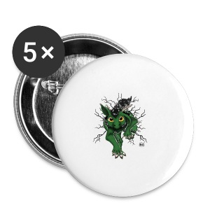 Huch?!- Drachi Dragon stuck grün/green Tasse - Buttons klein 25 mm
