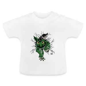 Huch?!- Drachi Dragon stuck grün/green Tasse - Baby T-Shirt