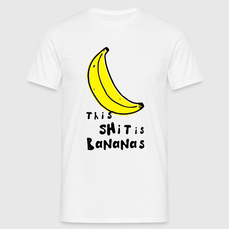 this shit is bananas banana monkey humor quotes T-Shirts - Men's T-Shirt