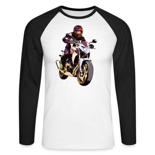 Biker - Männer Baseballshirt langarm