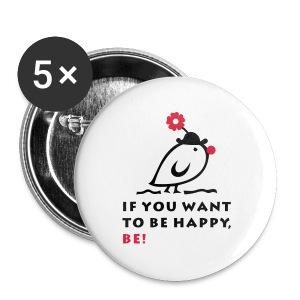 TWEETLERCOOLS be happy - Buttons groß 56 mm