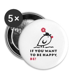 TWEETLERCOOLS be happy - Buttons groß 56 mm