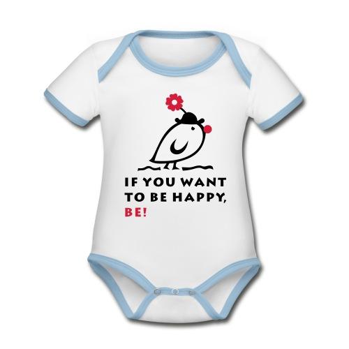 TWEETLERCOOLS be happy - Baby Bio-Kurzarm-Kontrastbody