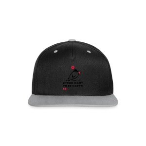 TWEETLERCOOLS be happy - Kontrast Snapback Cap