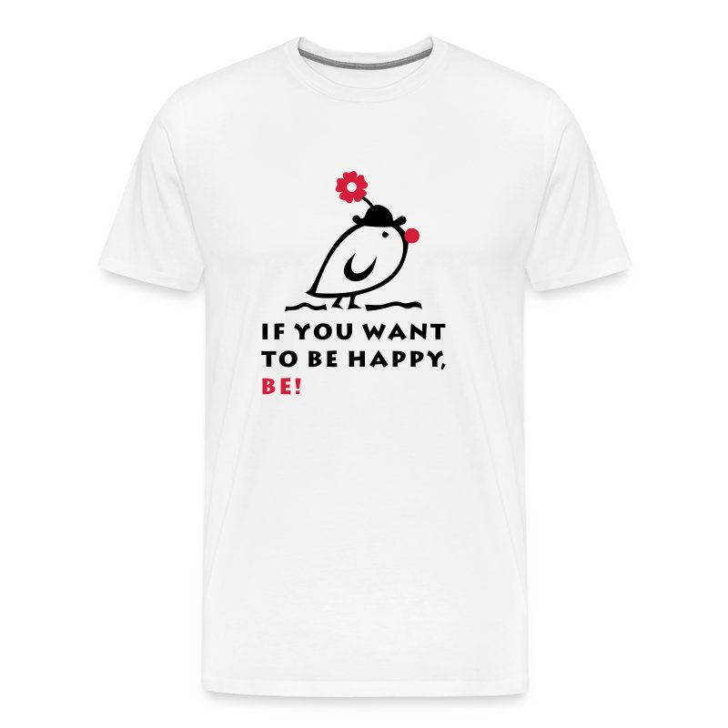 TWEETLERCOOLS be happy - Männer Premium T-Shirt