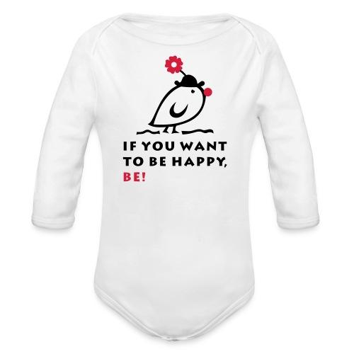 TWEETLERCOOLS be happy - Baby Bio-Langarm-Body