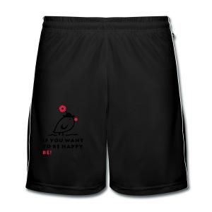 TWEETLERCOOLS be happy - Männer Fußball-Shorts