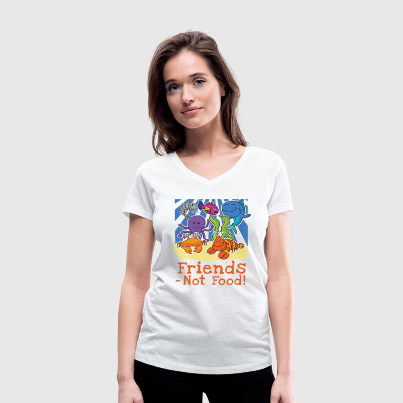 Friends - Not Food! Damen T-Shirt  - Frauen T-Shirt mit V-Ausschnitt