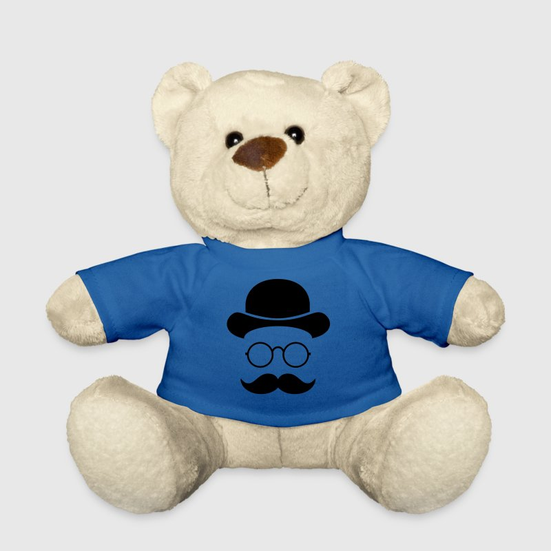 Funny vintage face with Moustache & Glasses Teddies - Teddy Bear