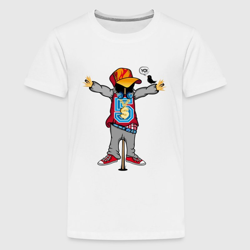 A scarecrow in Hip Hop Style  Shirts - Teenage Premium T-Shirt