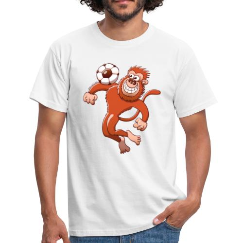 Monkey Trapping a Foot Ball with its Chest Long sleeve shirts - Men's T-Shirt