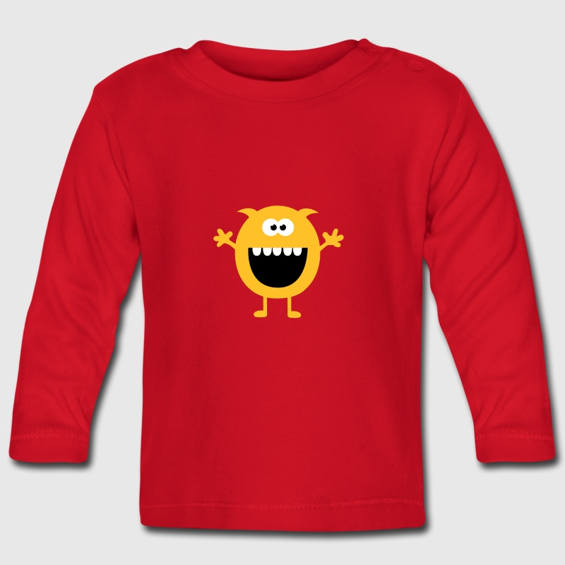 Funny Cute Monsters (Free Hugs) Long Sleeve Shirts - Baby Long Sleeve T-Shirt
