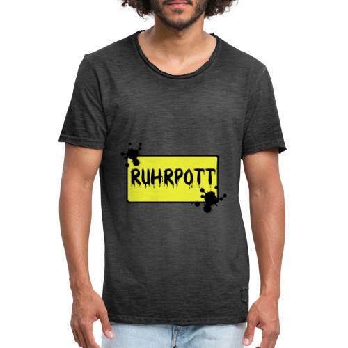 Ortsschild Ruhrpott Tasche - Männer Vintage T-Shirt