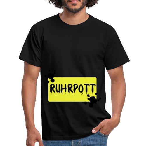Ortsschild Ruhrpott Tasche - Männer T-Shirt
