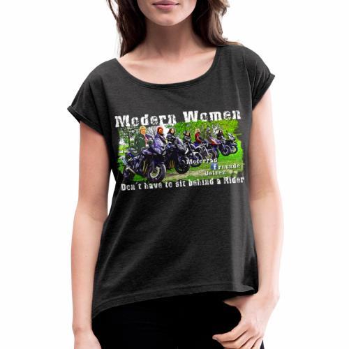 Bio Shirt Modern Women - Frauen T-Shirt mit gerollten Ärmeln