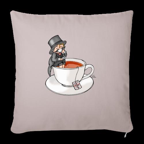 Teatime like a Sir mit Earl Grey - Sofakissenbezug 44 x 44 cm