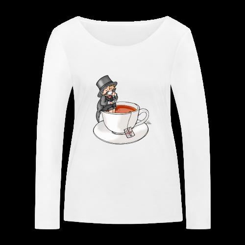 Teatime like a Sir mit Earl Grey - Frauen Bio-Langarmshirt von Stanley & Stella
