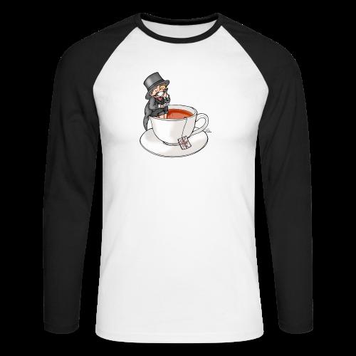 Teatime like a Sir mit Earl Grey - Männer Baseballshirt langarm
