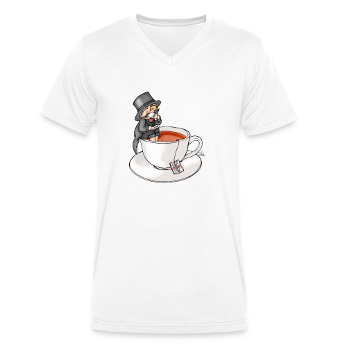 Teatime like a Sir mit Earl Grey - Männer Bio-T-Shirt mit V-Ausschnitt von Stanley & Stella
