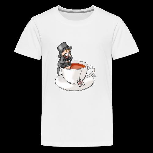Teatime like a Sir mit Earl Grey - Teenager Premium T-Shirt