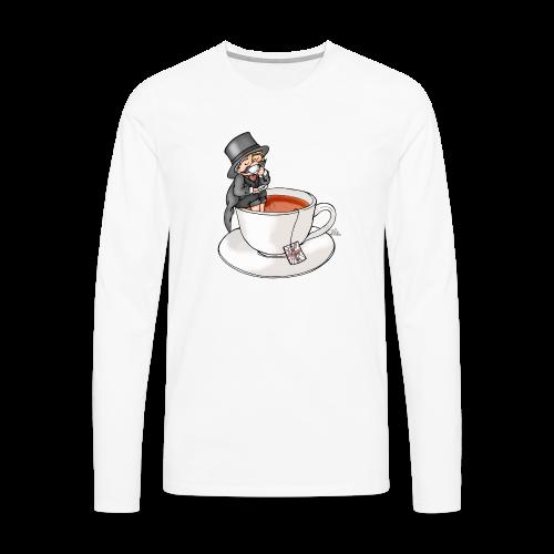 Teatime like a Sir mit Earl Grey - Männer Premium Langarmshirt