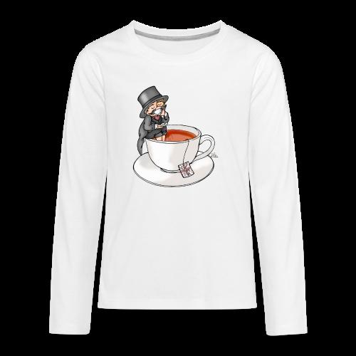 Teatime like a Sir mit Earl Grey - Teenager Premium Langarmshirt