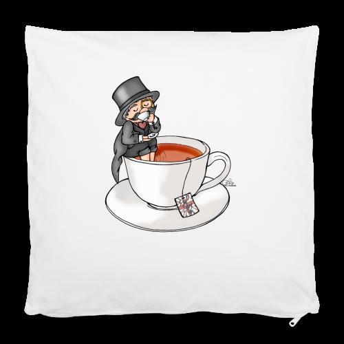 Teatime like a Sir mit Earl Grey - Kissenbezug 40 x 40 cm
