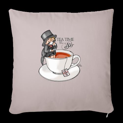 tea time like a Sir with Earl Grey (text) - Sofakissenbezug 44 x 44 cm