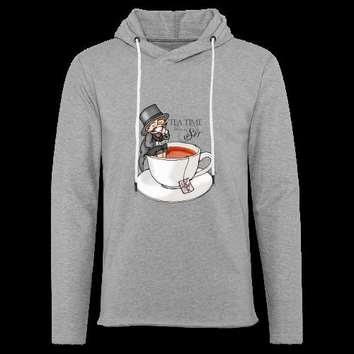 tea time like a Sir with Earl Grey (text) - Leichtes Kapuzensweatshirt Unisex