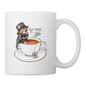 tea time like a Sir with Earl Grey (text) - Tasse