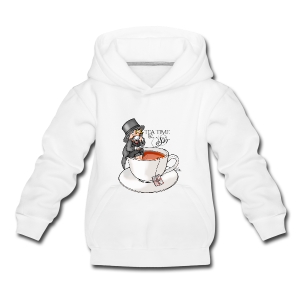 tea time like a Sir with Earl Grey (text) - Kinder Premium Hoodie