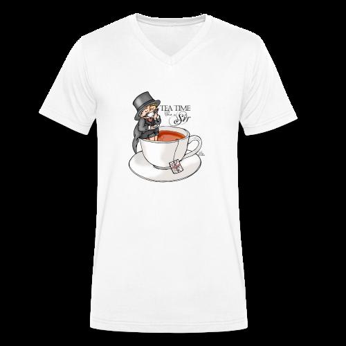 tea time like a Sir with Earl Grey (text) - Männer Bio-T-Shirt mit V-Ausschnitt von Stanley & Stella