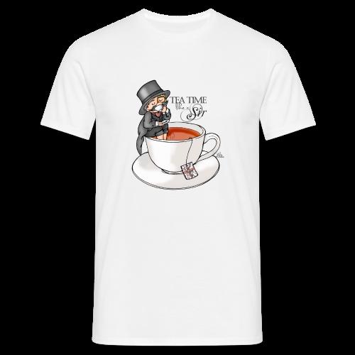 tea time like a Sir with Earl Grey (text) - Männer T-Shirt
