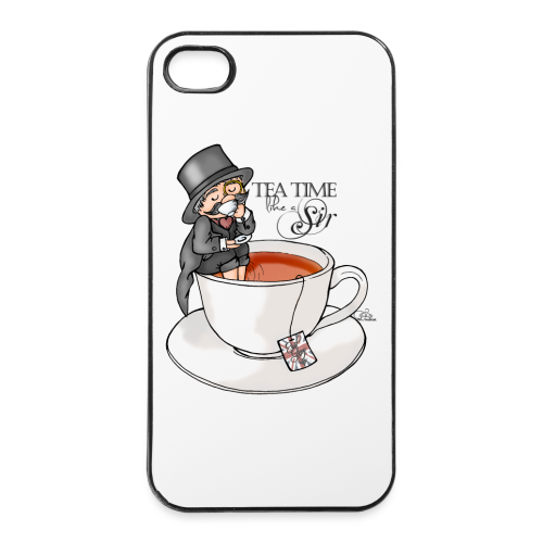tea time like a Sir with Earl Grey (text) - iPhone 4/4s Hard Case