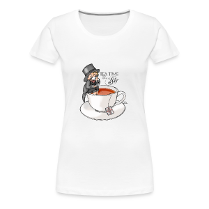 tea time like a Sir with Earl Grey (text) - Frauen Premium T-Shirt