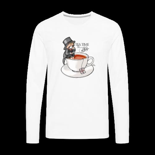 tea time like a Sir with Earl Grey (text) - Männer Premium Langarmshirt