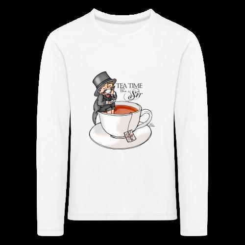 tea time like a Sir with Earl Grey (text) - Kinder Premium Langarmshirt