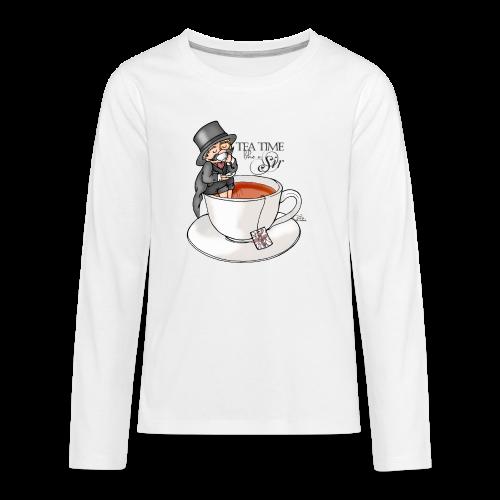tea time like a Sir with Earl Grey (text) - Teenager Premium Langarmshirt
