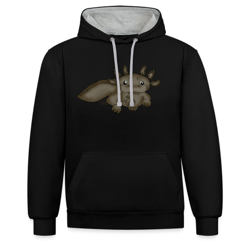 Axill Axolotl - Kontrast-Hoodie