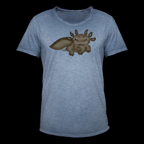 Axill Axolotl - Männer Vintage T-Shirt