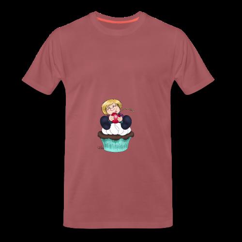Sweet Cherry Cupcake - Männer Premium T-Shirt