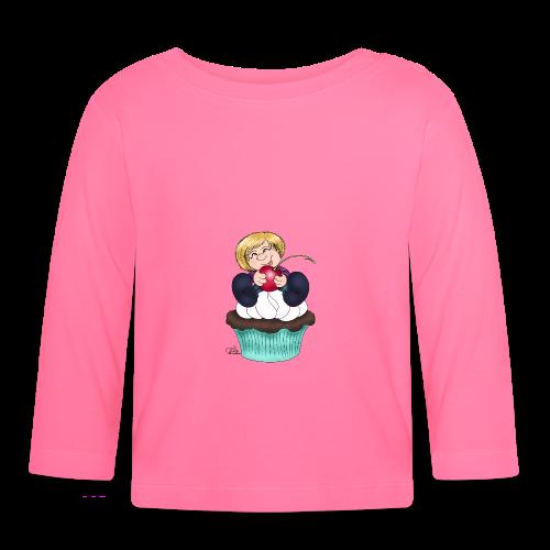 Sweet Cherry Cupcake - Baby Langarmshirt