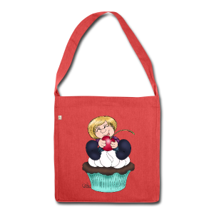 Sweet Cherry Cupcake - Schultertasche aus Recycling-Material