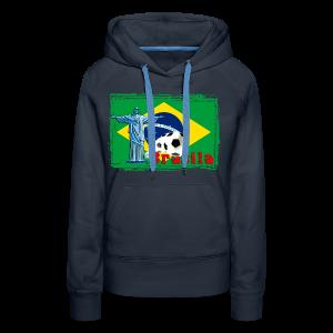 Brasilien Fussball - Frauen Premium Hoodie