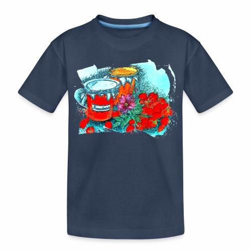 Erdbeeren - Teenager Premium Bio T-Shirt