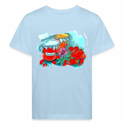 Erdbeeren - Kinder Bio-T-Shirt