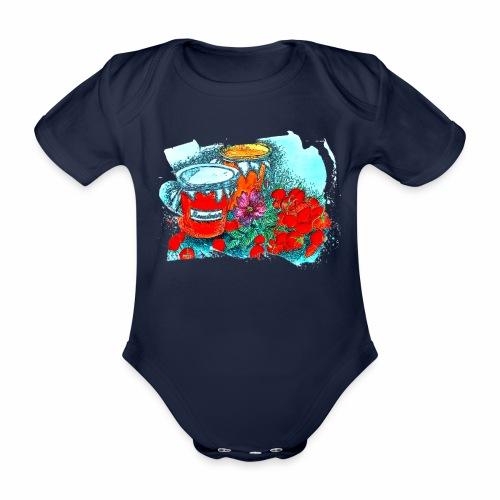 Erdbeeren - Baby Bio-Kurzarm-Body
