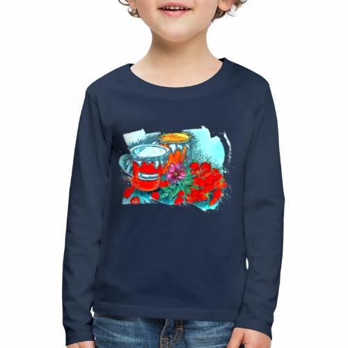 Erdbeeren - Kinder Premium Langarmshirt