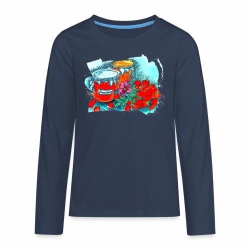 Erdbeeren - Teenager Premium Langarmshirt