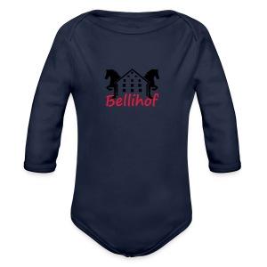 Bellihof Cap rot - Baby Bio-Langarm-Body